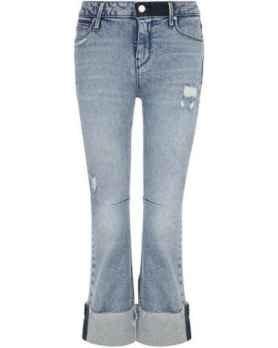 Широкие джинсы укороченные с манжетами Rta