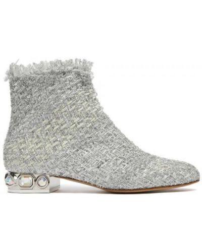 Ботинки светло-серый серые Casadei