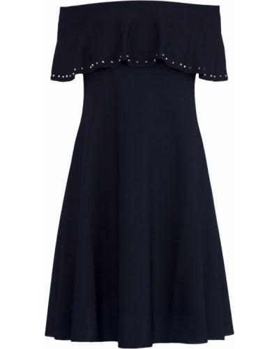 Платье с открытыми плечами с вырезом Valentino