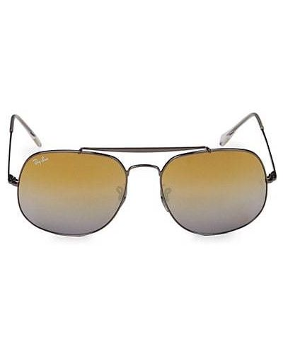 Оранжевые солнцезащитные очки квадратные металлические Ray-ban