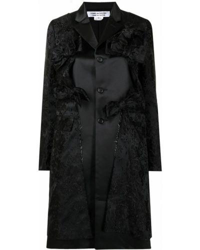 Черное пальто длинное Comme Des Garçons Comme Des Garçons