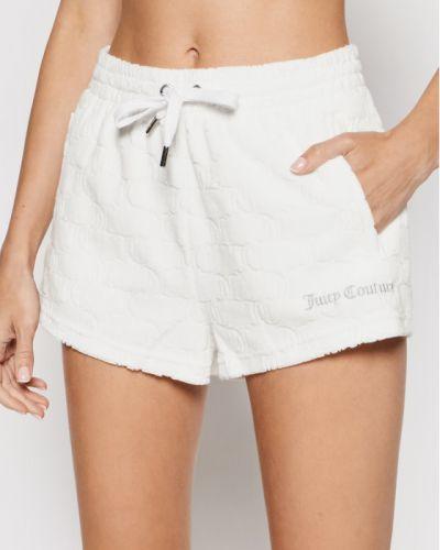 Białe spodenki sportowe Juicy Couture