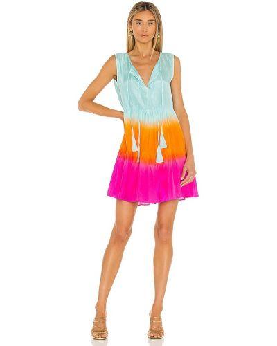 Платье мини атласное - синее Karina Grimaldi