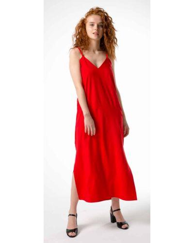 Вечернее платье сетчатое - красное Innoe