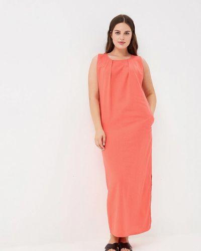Платье коралловый красный Louitex