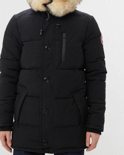 Утепленная куртка демисезонная черная Paragoose