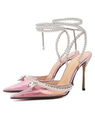 Розовые кожаные туфли Mach & Mach