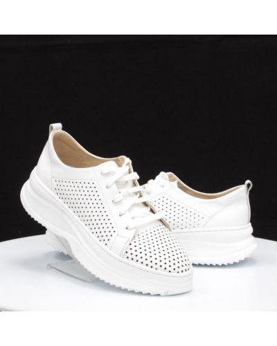 Кожаные кроссовки - белые Vadrus