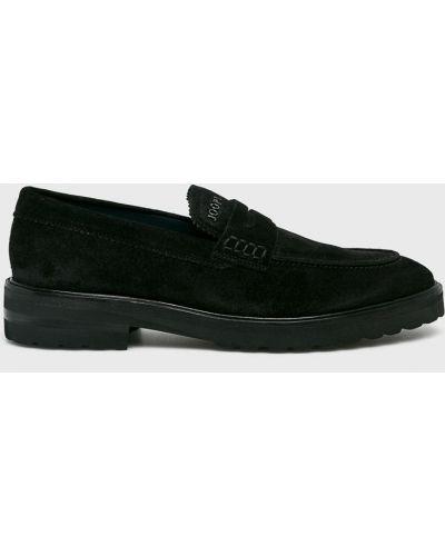 Кожаные туфли текстильные замшевые Joop!