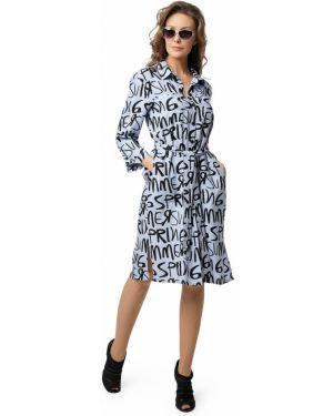Платье миди на пуговицах с капюшоном с разрезами по бокам с воротником Dizzyway