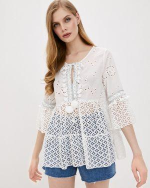 Белая блузка с поясом Care Of You