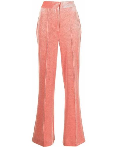 Расклешенные розовые брюки с потайной застежкой Alice Mccall