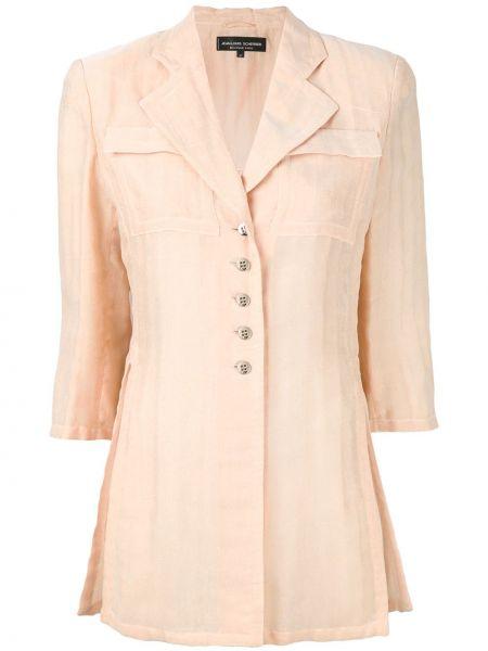 Нейлоновый желтый пиджак винтажный на пуговицах Jean Louis Scherrer Pre-owned