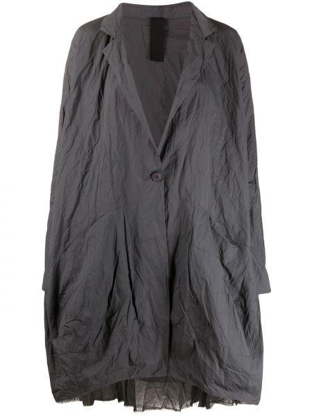 Серая классическая облегченная куртка с лацканами Rundholz