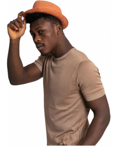 Pomarańczowa czapka Lardini