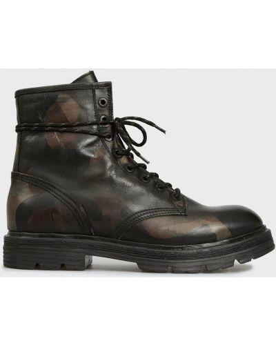 Кожаные ботинки - черные Replay
