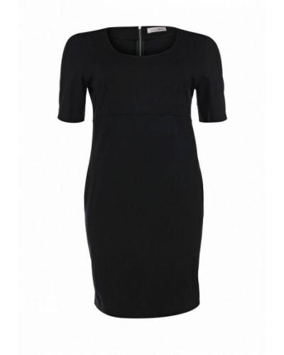 Платье миди осеннее черное Fiorella Rubino