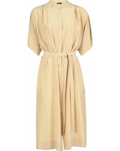 Шелковое платье - бежевое Joseph