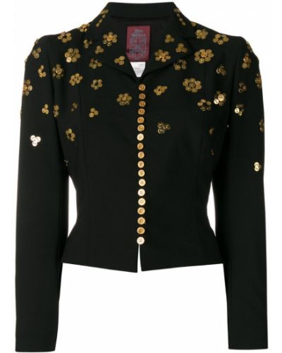 Черная короткая куртка John Galliano Pre-owned