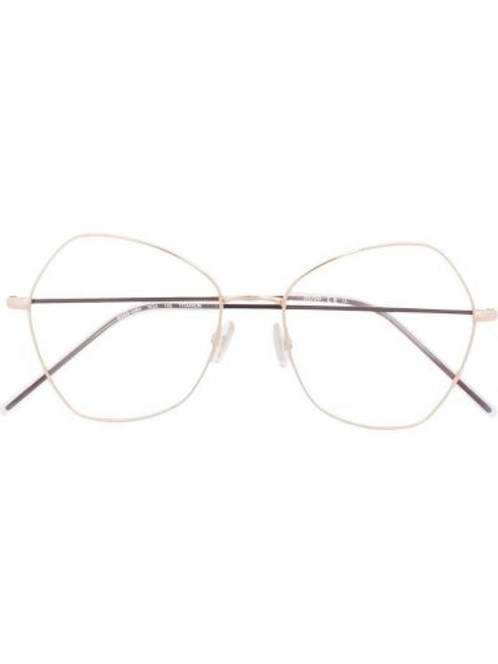 Złote okulary Boss Hugo Boss