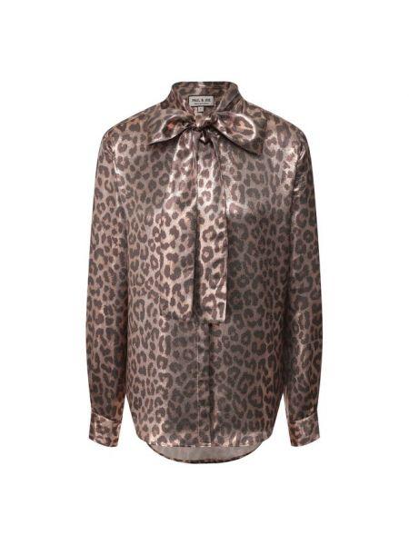 Шелковая блузка - коричневая Paul&joe