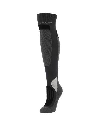 Серые компрессионные спортивные носки Glissade