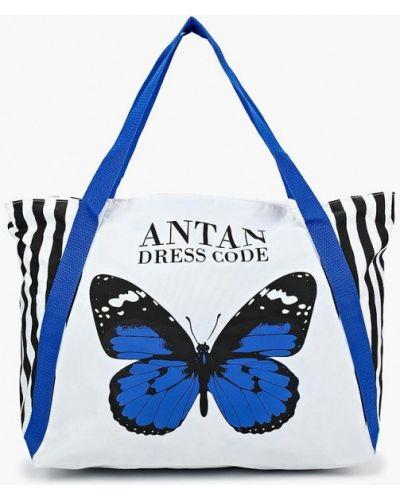 Белая пляжная сумка Antan