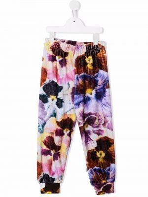 Fioletowe spodnie w kwiaty Molo Kids
