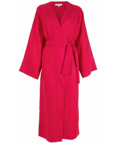 Розовое длинное пальто Nk