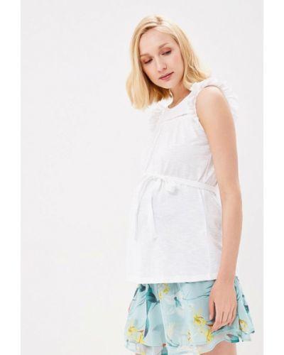 Белый топ для беременных Mama.licious