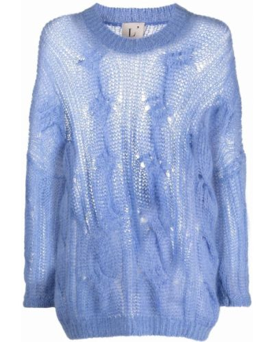 Джемпер из мохера - синий Lautre Chose