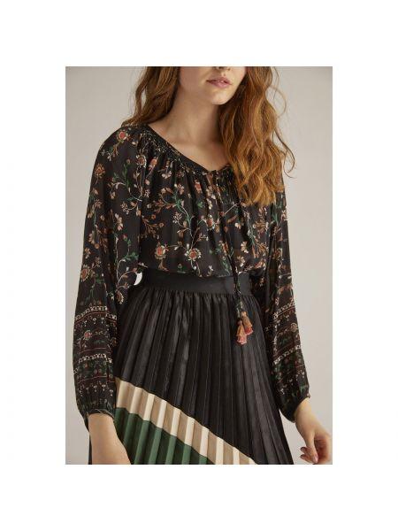 Блузка с длинным рукавом с цветочным принтом с вырезом Rene Derhy