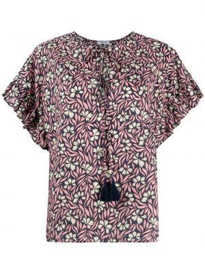 Розовая блузка круглая с круглым вырезом P.a.r.o.s.h.