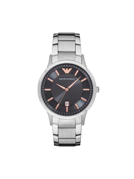 Zegarek srebrny - czarny Emporio Armani