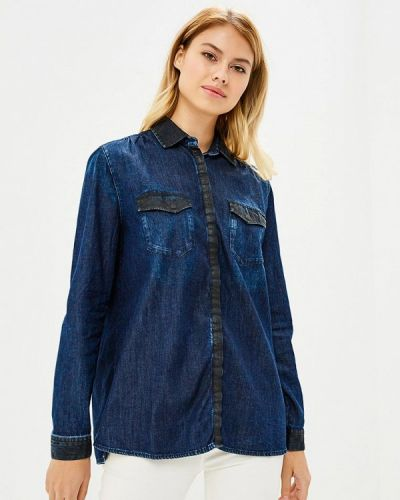 Синяя рубашка с длинным рукавом Gas