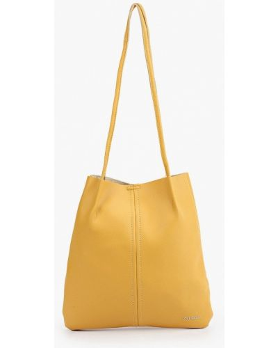 Желтая кожаная сумка Lolli L Polli