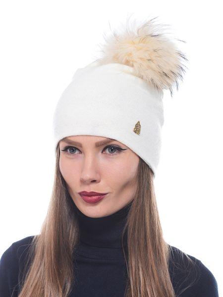 Кашемировая шапка - белая Marina Yachting