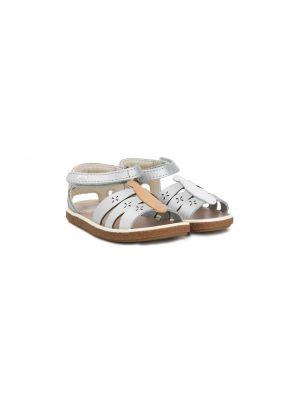 С ремешком коричневые кожаные сандалии Camper