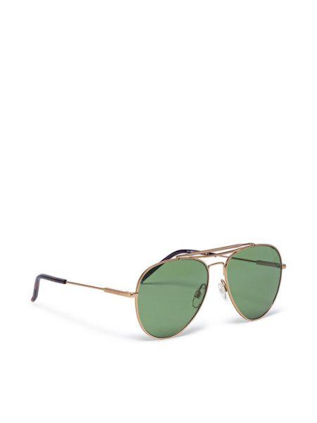 Złote okulary Tommy Hilfiger