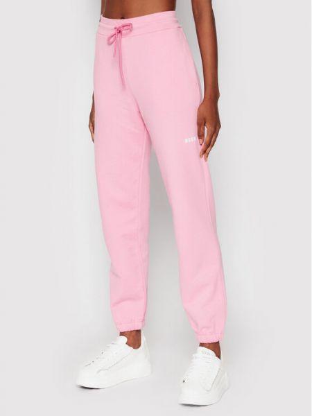 Różowe spodnie dresowe Msgm