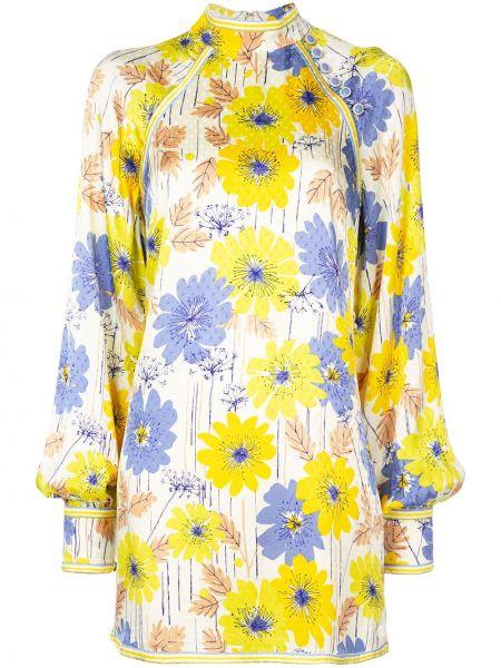 Желтое приталенное платье макси с длинными рукавами с манжетами Alice Mccall