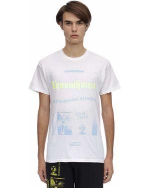 Biały t-shirt bawełniany z haftem Taboo
