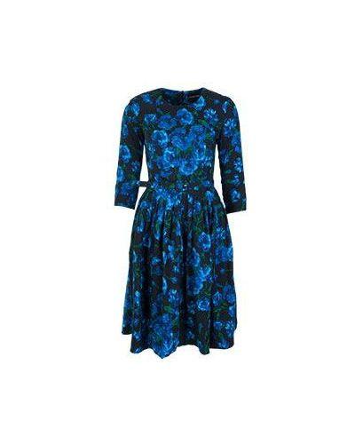 Платье с поясом с цветочным принтом зимнее Samantha Sung