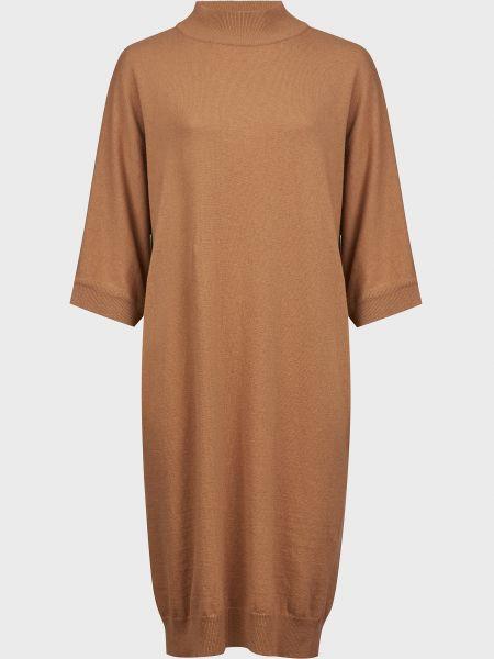 Шерстяное платье - коричневое Kontatto