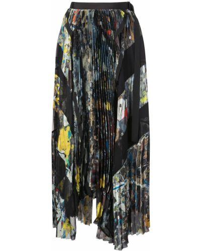 Плиссированная юбка макси с поясом Sacai