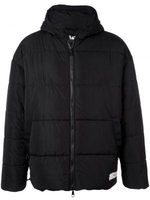 Czarna kurtka z kapturem z długimi rękawami Haculla