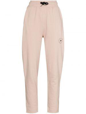 Хлопковые розовые брюки с карманами Adidas By Stella Mccartney