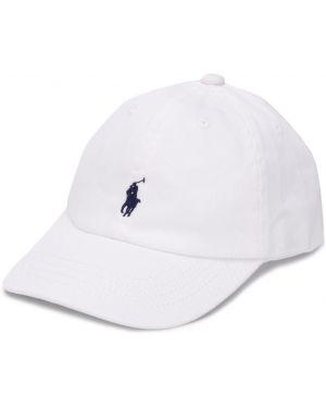 Czapka z logo biały Ralph Lauren Kids