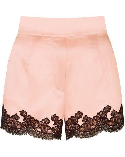 Шелковые ажурные пижамные розовые шорты Agent Provocateur