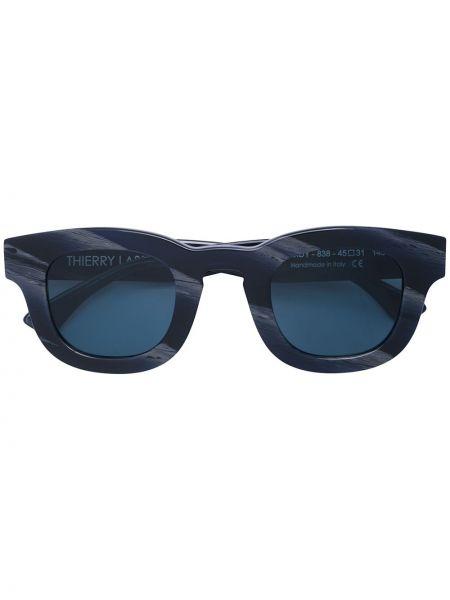 Прямые черные солнцезащитные очки квадратные с завязками Thierry Lasry